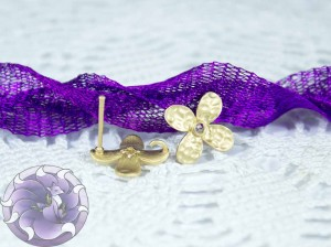 Швензы-гвоздики №50 Цвет матовое золото