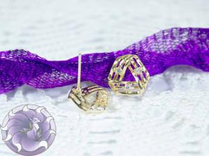 Швензы-гвоздики №52 цвет золото