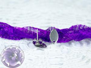 Швензы-гвоздики №58 цвет серебро