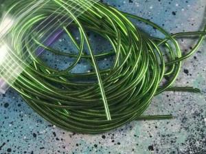 Канитель гладкая 1мм цвет Зеленая трава 5г