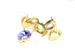 Оправы для кристаллов Капля золотые