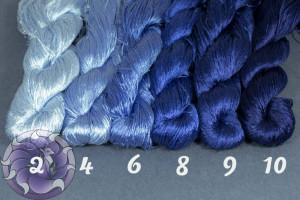 Шелковые нитки для вышивки, мулине шелк №20
