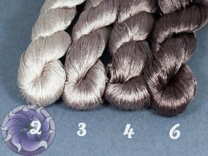 Шелковые нитки для вышивки, мулине шелк №23